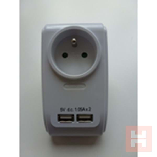 Adapter met USB-charger